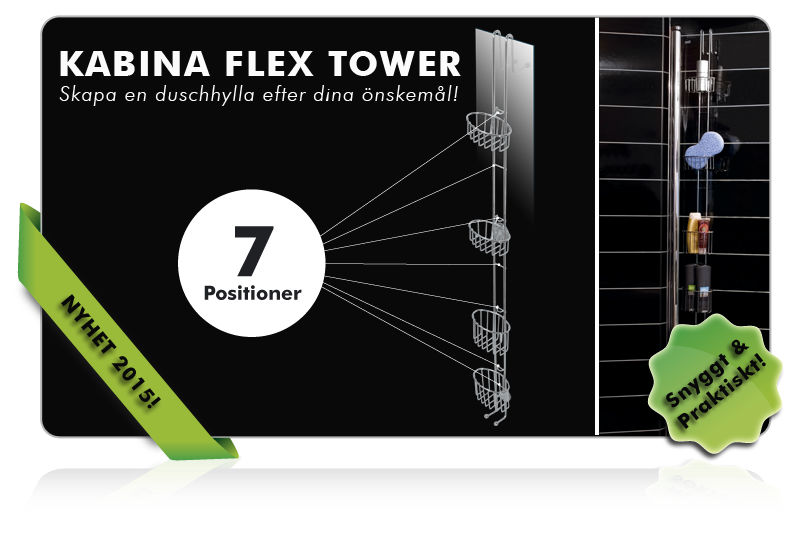 Kabina Flex Tower duschhylla