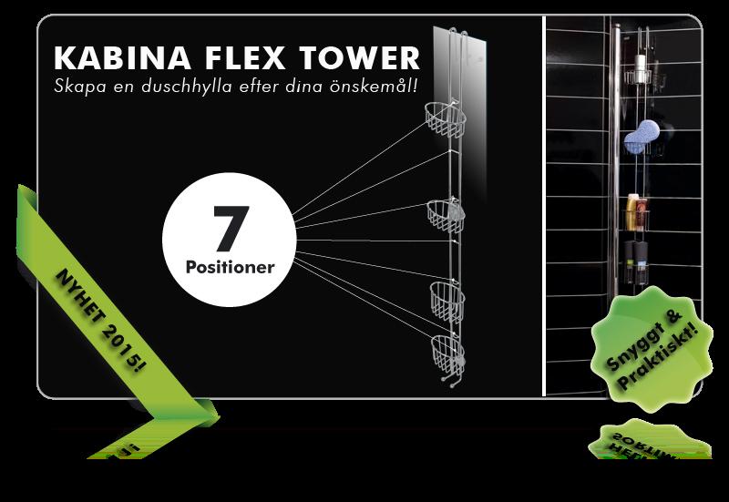 Kabina Flex Tower duschhylla