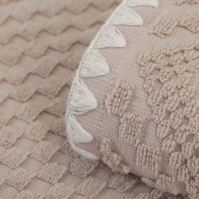 Porto Handduk Sand med Elfenbenskant
